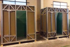 Instalaciones de industrialización de Ttres. Construcción de baños prefabricados.